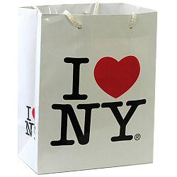 CitySouvenirs.com - I Love NY Small Gift Bag, $1.50 (http://www.citysouvenirs.com/i-love-ny-small-gift-bag/)