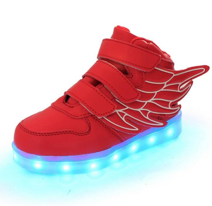 Nuovi bambini di estate traspirante scarpe da tennis di sport di modo usb led luminoso illuminato shoes per i bambini da corsa ragazzi delle ragazze casuali appartamenti