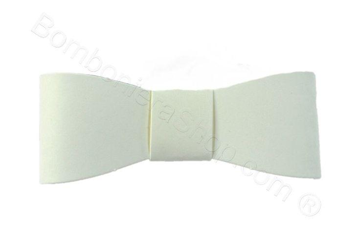 Fiocco colore Bianco confezione da 6 pezzi
