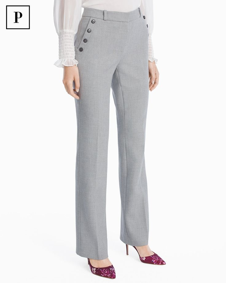 Petite Suiting Bootcut Pants