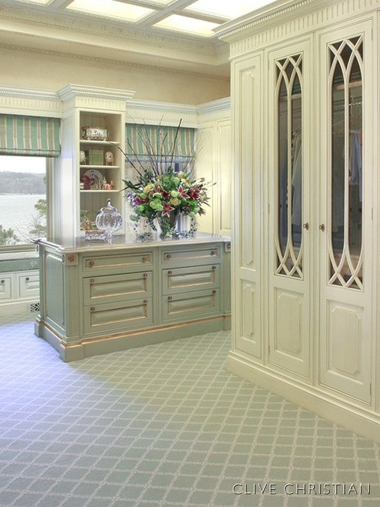 Custom cabinetry in this gracious closet~