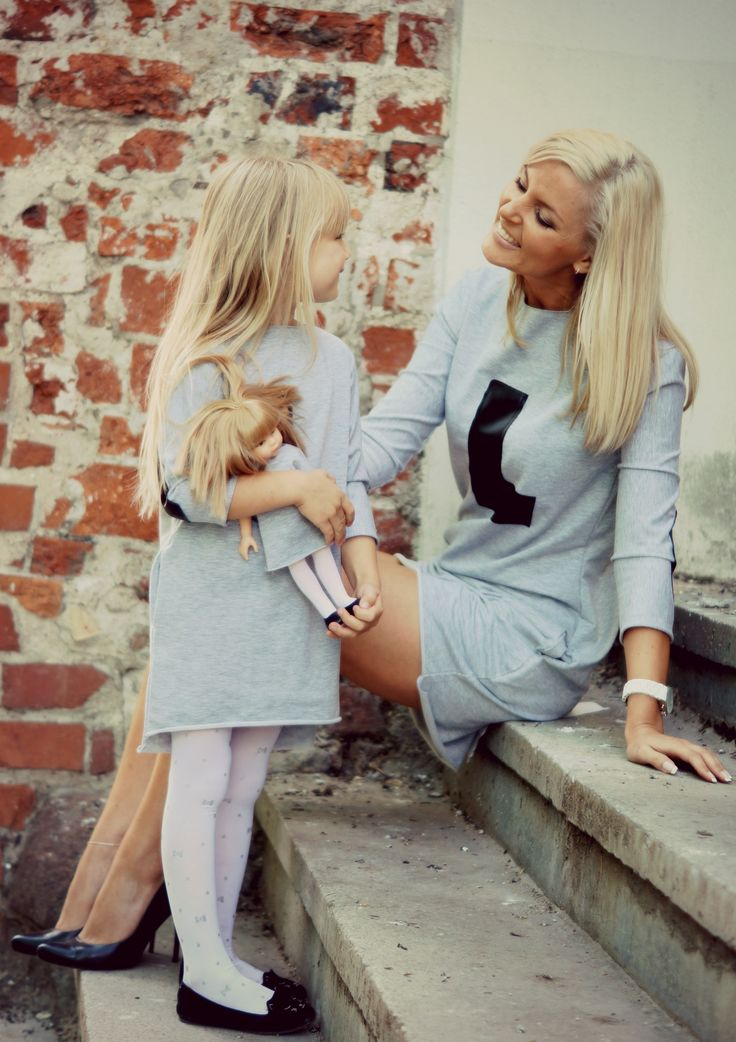 Mother daughter and doll match. Fantastic idea for photo shoot. Pretty doll, that looks like you.