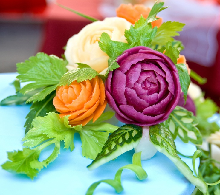 Fruit and vegetable carvings food art pinterest