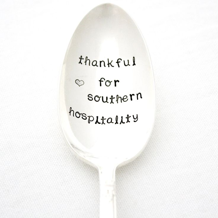 "Southern Hospitality: Serving Spoon. ""Thankful For Southern Hospitality"