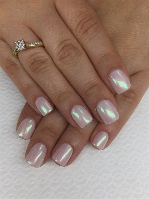 Mirror Nail Glitter Acrylic Nail Design For New Years For