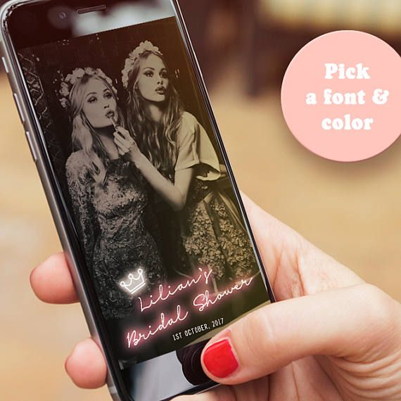 This cutsom neon sign Snapchat geofilter is a fun way to make your day extra special. Personalize your occasion with your own custom-made Snapchat geofilter and your guests' selfies will never look better. I will sculpt the perfect filter for you.  ❤ How it works: 1. Add this listing to your cart & purchase. Please include the text and special request you want on the geofilter in Notes to Seller at checkout. If you have any questions, please feel free to contact me prior to ordering :) 2....