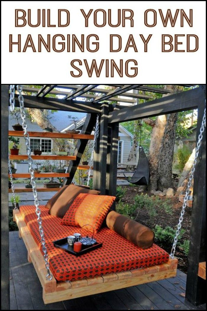 124 best outdoor furniture images on pinterest backyard for Hanging bed construction
