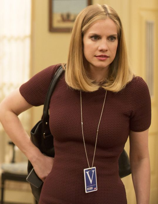 """Anna Chlumsky as Amy Brookheimer: the Vice President's Chief of Staff in """"Veep"""" (TV Series)"""