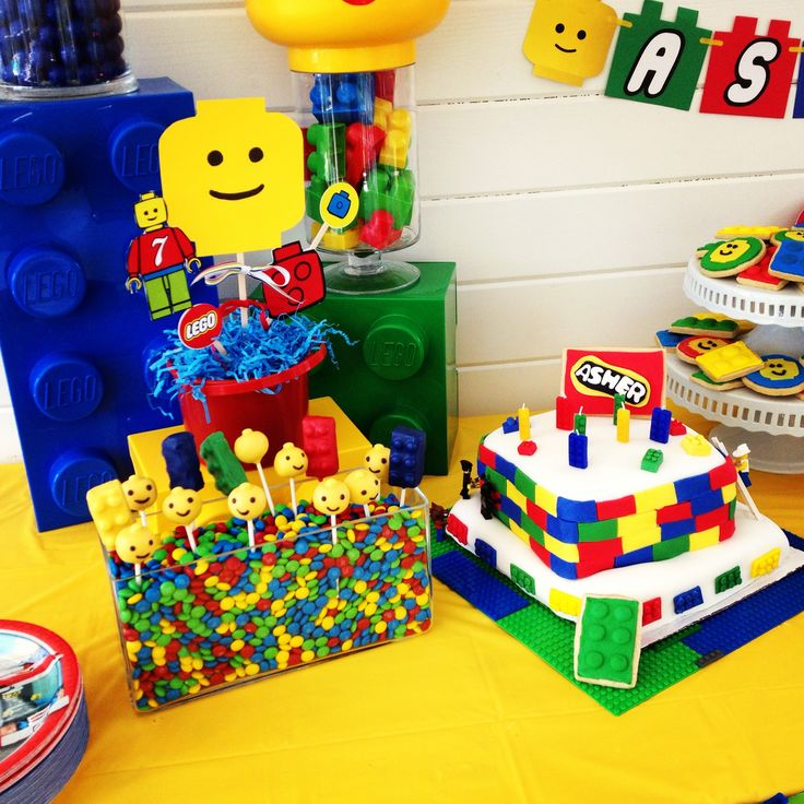 Lego Party Dessert Table