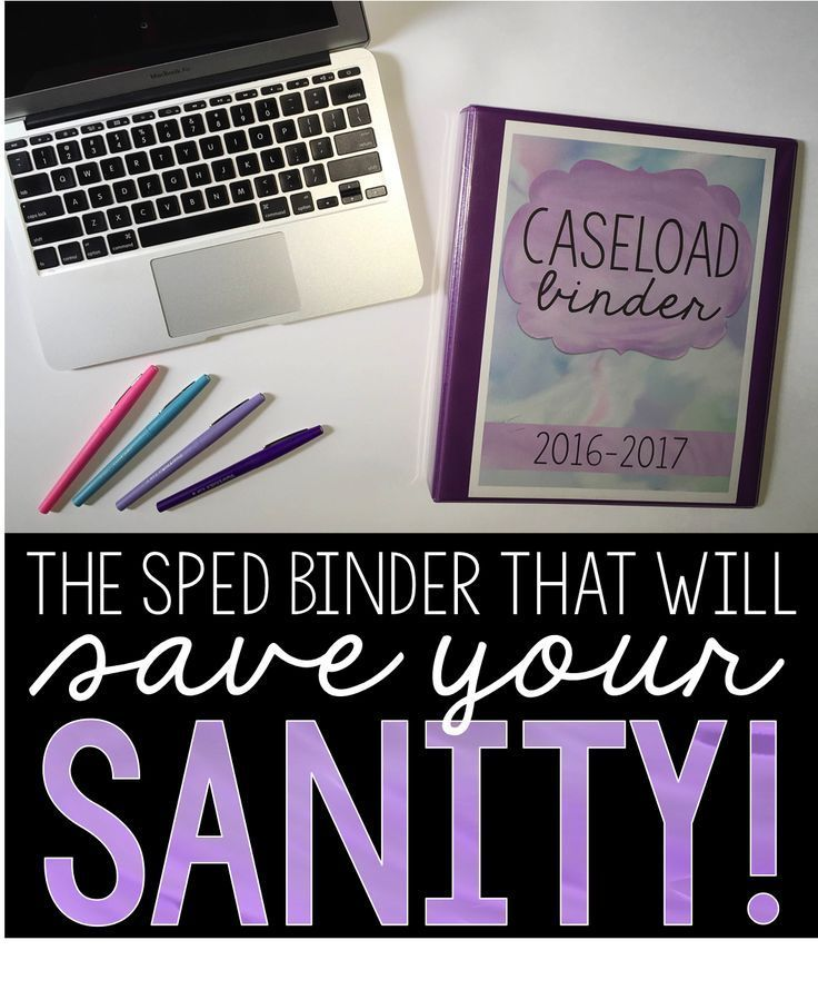 Special Education Binder Part of being a successful special education teacher means you must find a way to be the master of organization. These binder is the perfect way to manage your caseload, progress monitor, take meeting notes, create lesson plans, a
