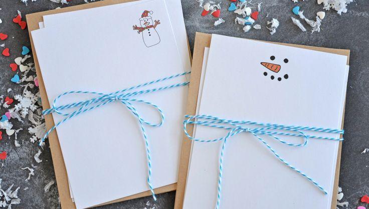Free Printable Snowman Notecards