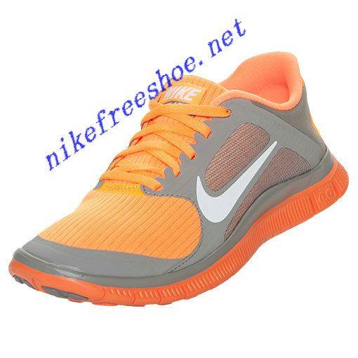 Nike Free 4.0 V3 Chaussures De Course Pour Femmes - Chaussures De Sport Gris / Orange jeu fiable acheter en ligne express rapide 2014 plus récent Rh7kc