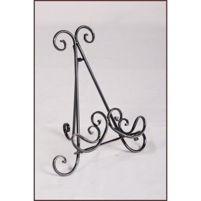 Metallic Picture Stand with curled design.