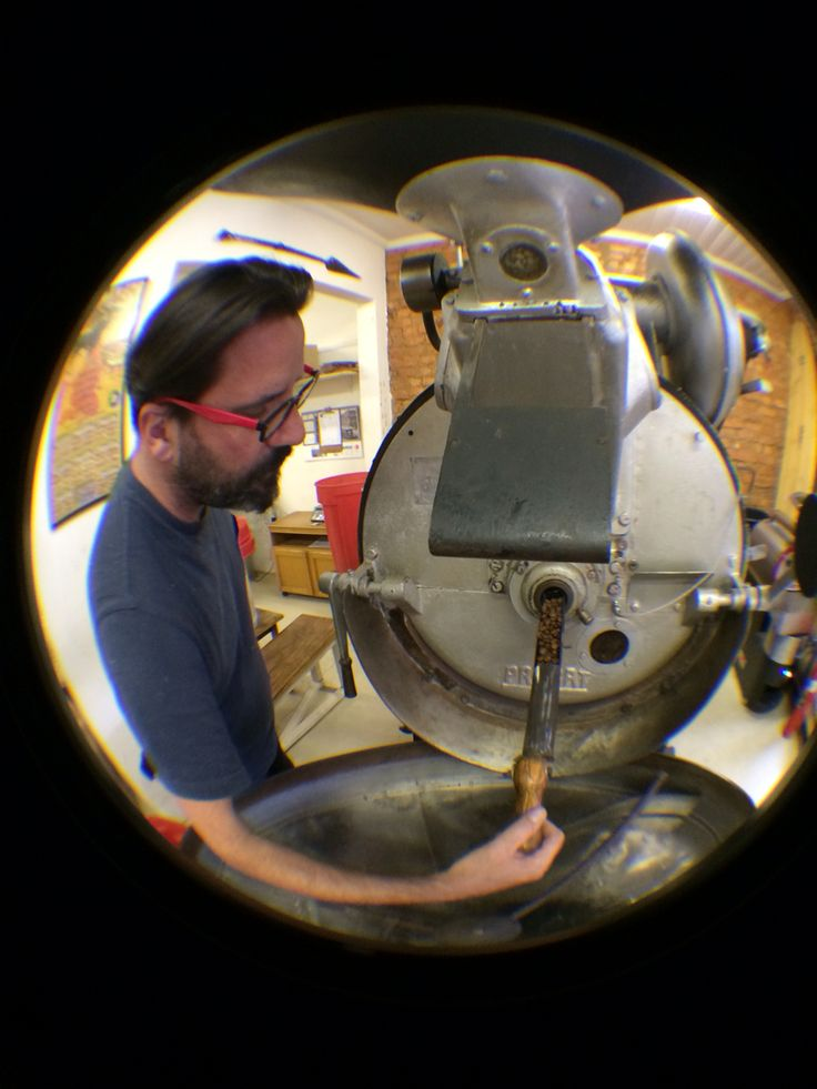 Roasting coffee on an original Probat Roaster. Her name is Bertha. Learn about her with #tribecoffee www.tribecoffee.co.za