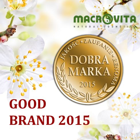 """The brand of MACROVITA cosmetics has received the title of """"GOOD BRAND 2015 - Quality, Trust, Reputation"""" in the category of natural cosmetics with olive oil.  This prestigious award is given to the most developmental and most recognizable brands present on the market. This award is a confirmation of the status of the brand as a leader in the industry, confirms the highest quality of cosmetics, and also testifies to the confidence of customers and brand reputation."""