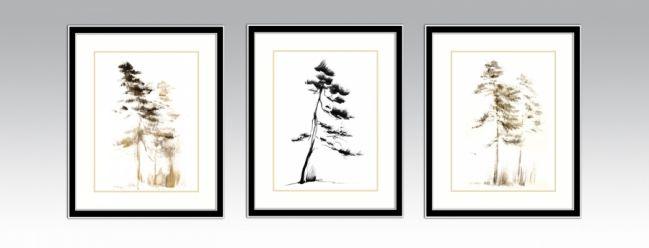 Option 2. Black&Silver frame and light double passe-partout