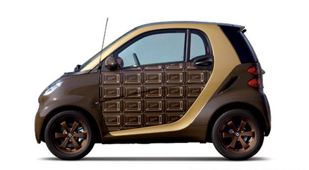 Here's my smart for two chocolate car