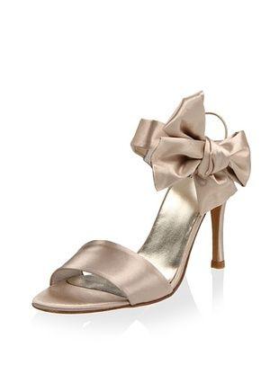 64% OFF Stuart Weitzman Women's Bigbow Sandal (Blonde Satin)