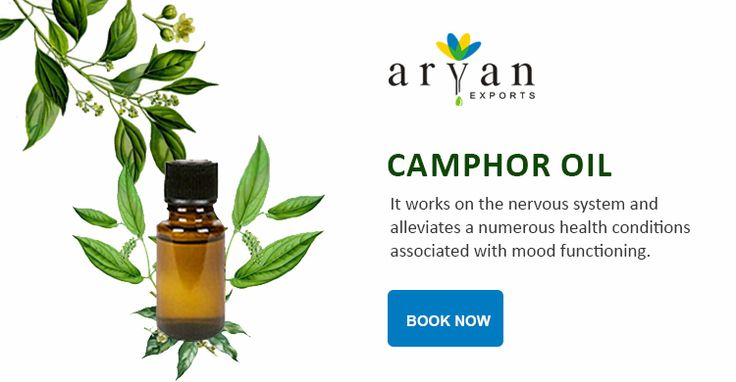 Camphor oil is full of health benefits and effectively treats a number of body systems. It works on the nervous system and alleviates a numerous health conditions associated with mood functioning. It is effective for those with nervous depressive symptoms and conditions.