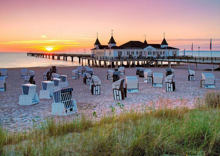 Das Ostseebad Ahlbeck-Heringsdorf is a seaside resort on the island of Usedom in the Baltic Sea in Mecklenburg-Vorpommern, Northeastern Germany.