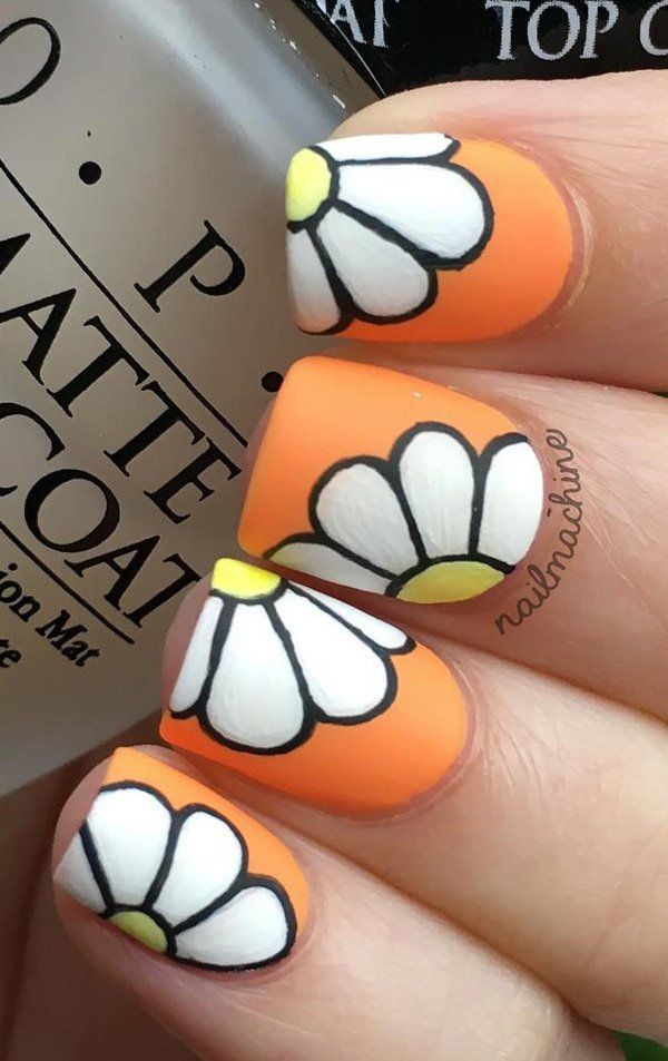 flower-nail-art - 50 Flower Nail Art Designs <3 <3