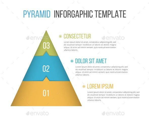 Pyramid With Three Elements Infographic Layout Data Design Web Design