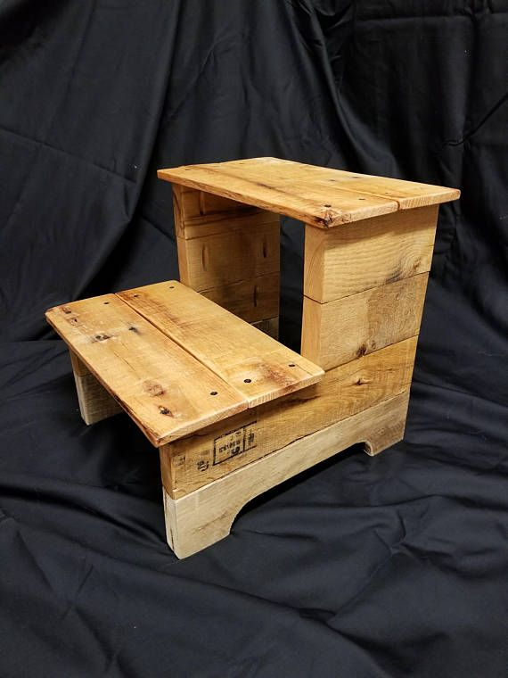 Outstanding A Beautiful Step Stool Made From Pallet Wood Approximately Machost Co Dining Chair Design Ideas Machostcouk
