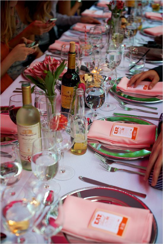 Ordinary Different Dinner Party Ideas Part - 3: Dinner Party Decor Ideas With Different Color