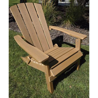 Stonegate Designs Composite Foldable Adirondack Chair U2014 Brown