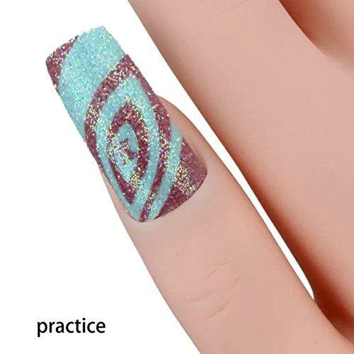 mano trainer morbida per applicazione unghie finte gel micropittura nail art: Amazon.it: Salute e cura della persona