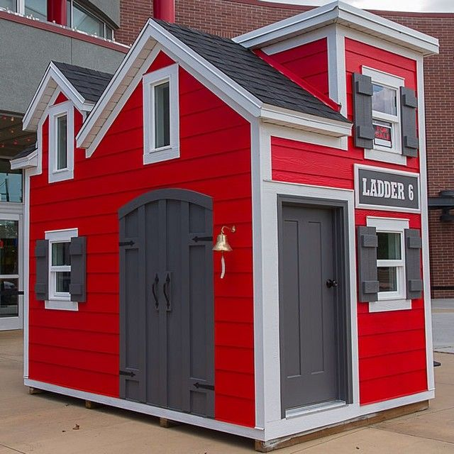 This amazing firehouse playhouse is for sale!! There is even a fire pole out the back! 100% of proceeds will go to charity. For info on how to bid click the link in our profile.