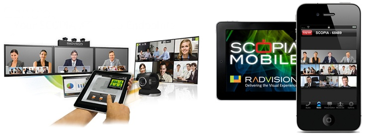 Scopia let you make HD Video Conferencing from your Desktop and Mobile, iPhone, iPad, and iPod touch. Also you can do it from your Samsung LCD monitor.