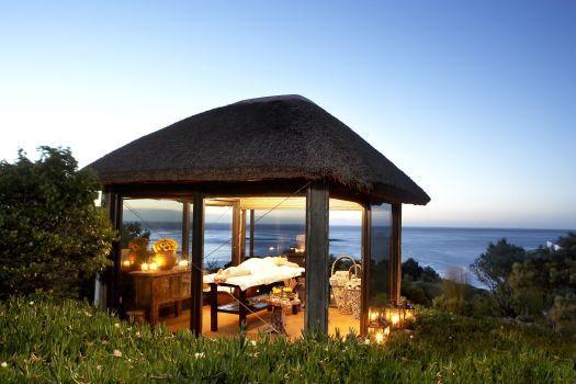 Outdoor spa gazebo at twelve Apostles Hotel & Spa, Atlantic Seaboard, Cape Town, South Africa