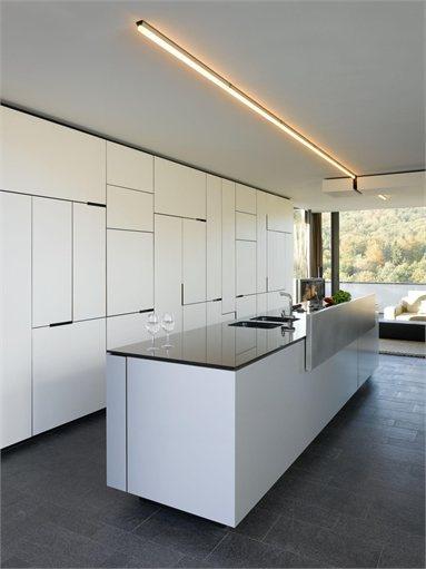 House B-Wald - #Stuttgart, #Germany - 2006 - Alexander Brenner #kitchen #interiors
