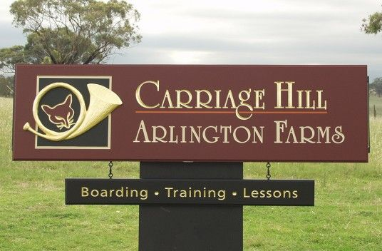 Carriage Hill Farm Sign / Danthonia Designs
