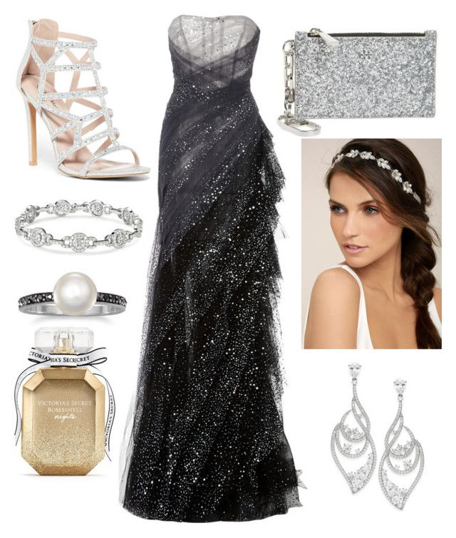 """Soirée"" by aurorepedroni on Polyvore featuring Pamella Roland, Top Moda, Tory Burch, LULUS, Eliot Danori and Victoria's Secret"