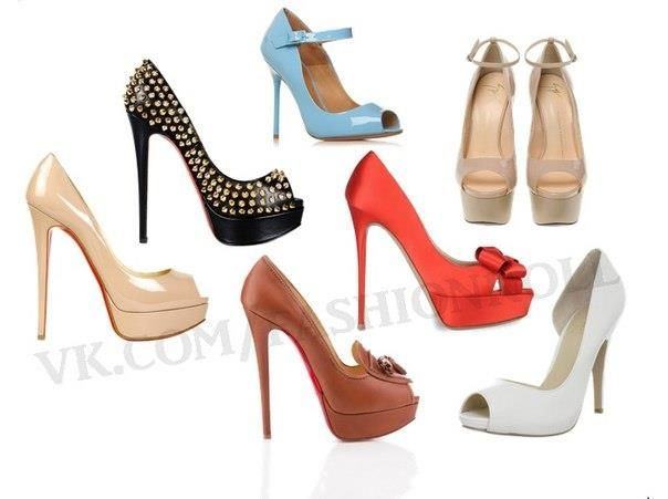 Купить туфли с открытым носиком
