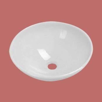 spec-Bathroom White Glass Vessel Sink Phoenix Stone Tempered
