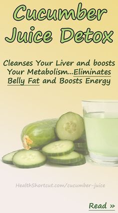 Drinking cucumber juice to boost your metabolism and cleanse your liver