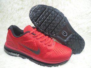 buy online dbbbd 582fd Mens Nike Air Max 2019 Sneakers October Red Black