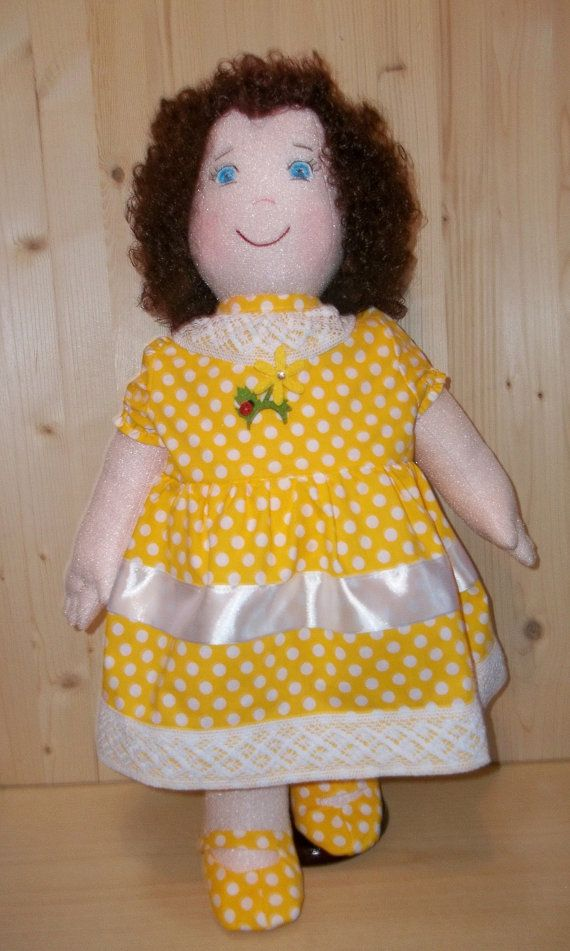 Large Cloth Doll pattern, PDF Sewing Tutorial, Soft Doll Pattern Emily Height 64cm