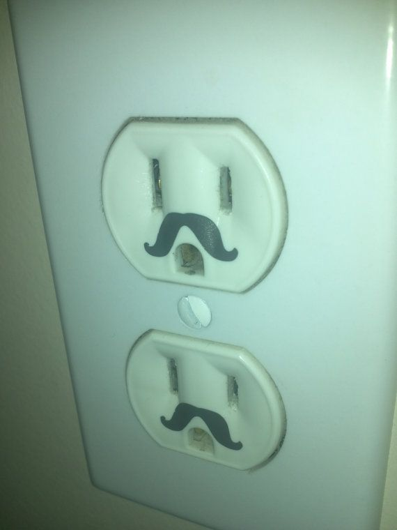 Wall outlet vinyl mustache decor set of 10 vinyls too for Outlet herford