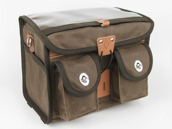 Acorn Boxy Rando Bag - hand-made of waxed canvas and leather. Well designed and super durable. But as with many fine things, there's a waiting list. But it's worth it.