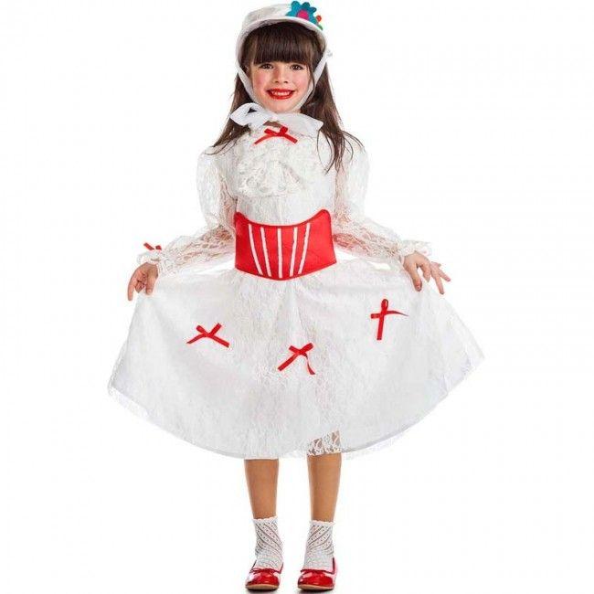 Disfraz De Mary Poppins Blanco Para Niña Mary Poppins Disfraz Disfraces Infantiles Disfraces Para Niños