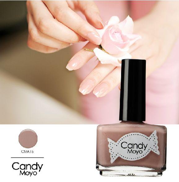 Candy Moyo提拉米苏牛奶甜酒嫩粉色指甲油 裸色藕粉色美甲CMA15