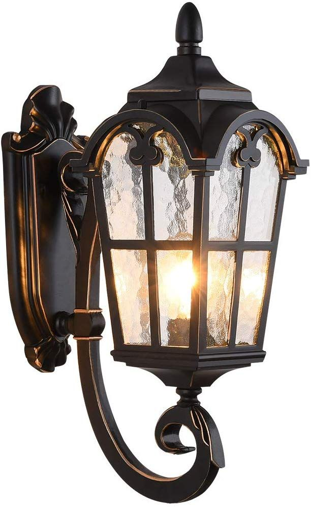 Lonedruid Led Outdoor Wall Light Fixtures Black Roman Exterior Wall Lantern 17 71 H Waterpro Outdoor Wall Light Fixtures Led Outdoor Wall Lights Porch Lighting