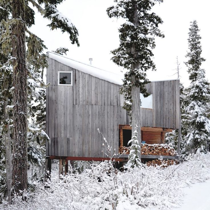 Vancouver studio Scott & Scott Architects created this remote snowboarding cabin for their own use at the northern end of Vancouver Island.