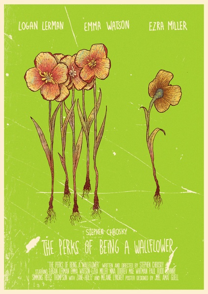 The Perks Of Being A Wallflower - movie poster art print by Joel Amat Güell.