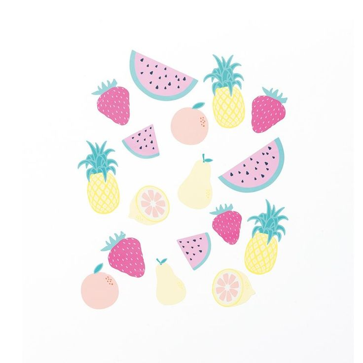 fruit Wall Decor Pack roomates Wall Stickers