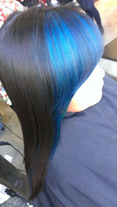 Had some fun today...Blue hair!